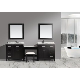 Design Element Espresso Marble Top Bathroom Vanity