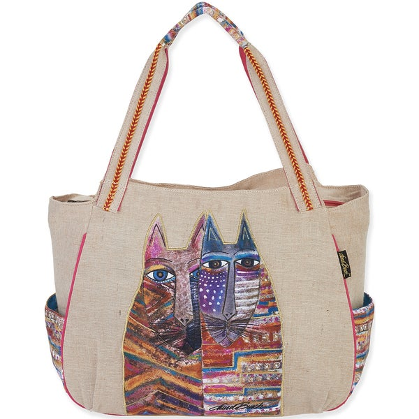 "Folklorica Shoulder Tote 17""X3""X13""-Gatos"