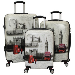 World Traveler London 3-piece Hardside Lightweight Spinner Luggage Set