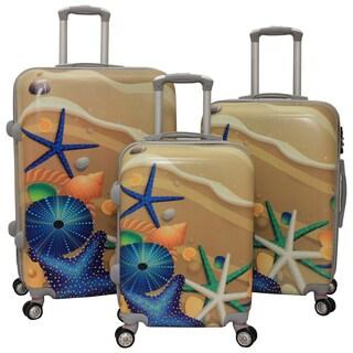 World Traveler Sea Life 3-piece Hardside Lightweight Spinner Luggage Set