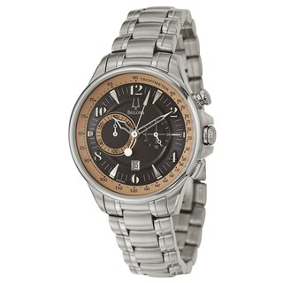 Bulova Men's 'Adventurer' Stainless Steel Quartz Watch