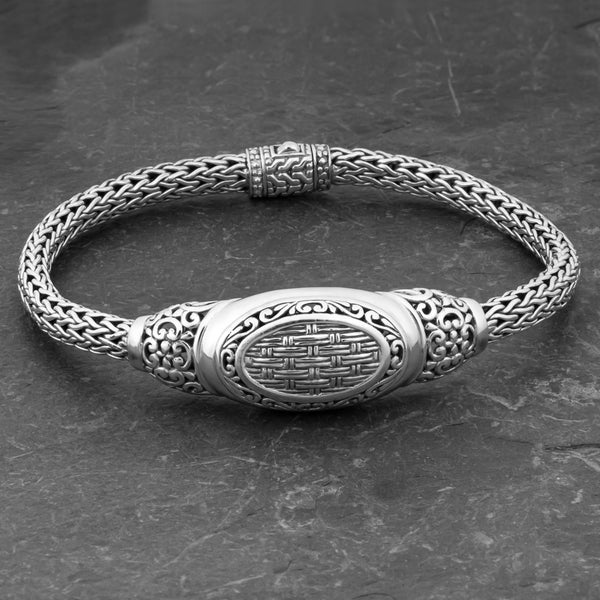 Sterling Silver 'Balinese Breeze' 7.5 inch Cawi Bracelet (Indonesia)