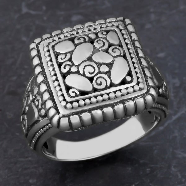 Sterling Silver 'Rocky Mountain' Cawi Ring (Indonesia)
