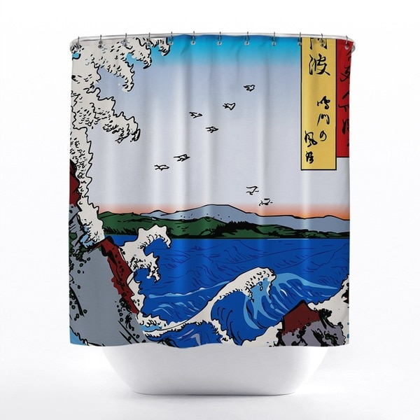 Wild Sea Breaking on the Rocks Shower Curtain