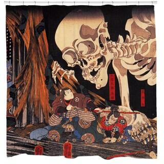 Mitsukini 'Defying the Skeleton' Shower Curtain