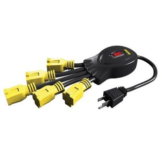 Stanley 31500 Black/ Yellow 5 Grounded Outlets Power Squid