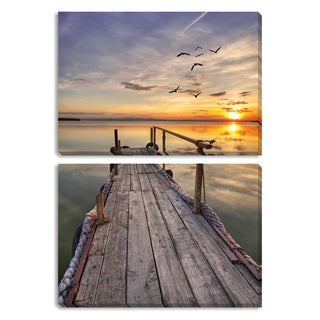 Close of Day Triptych Canvas Gallery Wrap Art