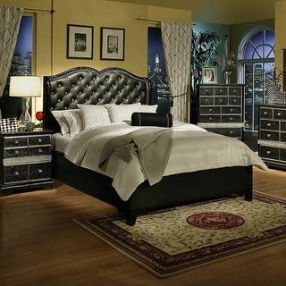 Sandberg Furniture Hollywood Glamour Black Chaise Bed