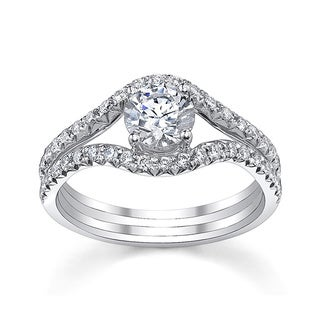 14k White Gold 1ct TDW Diamond Engagement Ring (H-I, SI1-SI2)