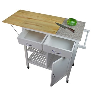 Nordic Furniture Granite Island Rolling Kitchen Workstation