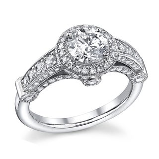 14k White Gold 1 2/5ct TDW Diamond Vintage Engagement Ring (I-J, SI2)