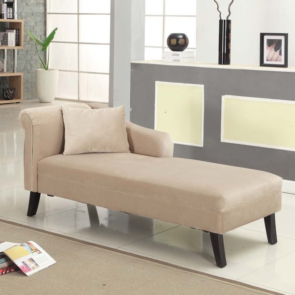 Patterson taupe chenille chaise 16750131 for Armen living patterson chenille chaise lounge