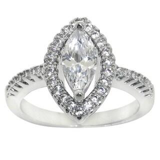 Eternally Haute 2 1/2ct TGW Marquise-cut Cubic Zirconia Ring