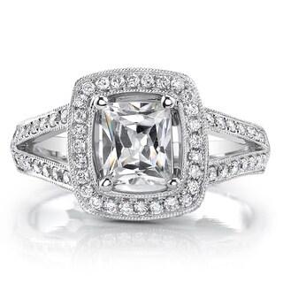 18k White Gold 1 1/2ct TDW Princess Diamond Engagement Ring (I, I1)