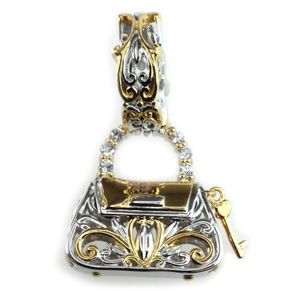 Michael Valitutti Palladium Silver Handbag Charm