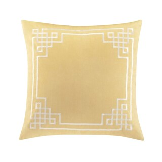 Natori Fretwork Yellow Cotton Euro Sham