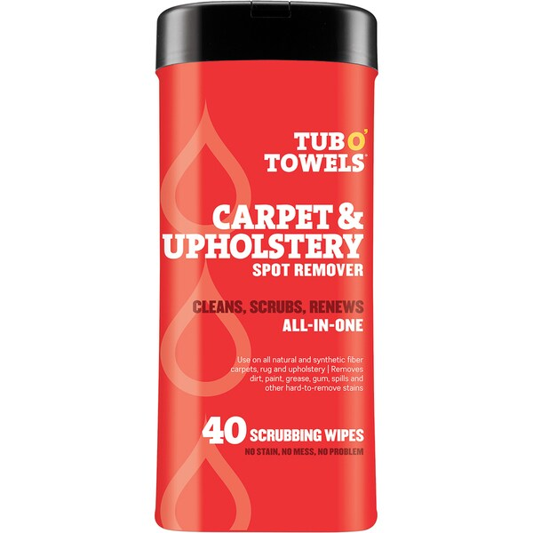 "Tub O' Towels 7""X8"" 40/Pkg-Heavy Duty Carpet & Upholstery Wipes"
