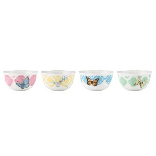 Lenox Butterfly Meadow Trellis 4-piece Dessert Bowl Set