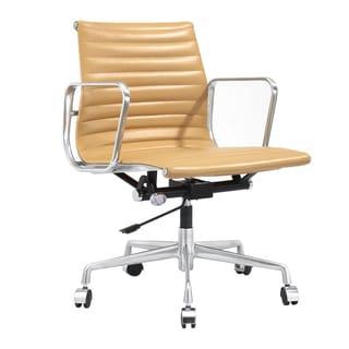 Quattro Office Chair in Aniline Cream Leather
