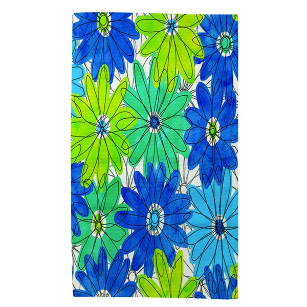 Thumbprintz Funky Florals Daisy Royal Blue Rug (4' x 6') 14230788