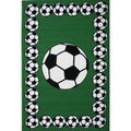 Soccer Time Green Accent Rug (3'3 x 4'8)