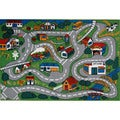 Country Fun Green Accent Rug (8' x 11')