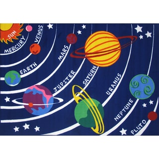 Solar System Blue Accent Rug (5'3 x 7'6)
