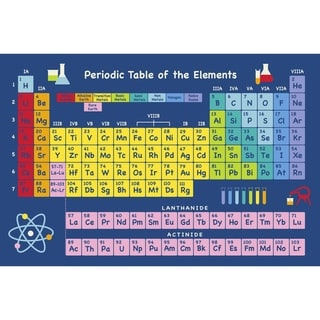 """Table of Elements Blue Accent Rug - 5'3"""" x 7'6"""""""