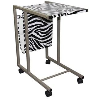 Zebra Laptop Cart