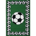 Soccer Time Green Accent Rug (1'6 x 2'4)