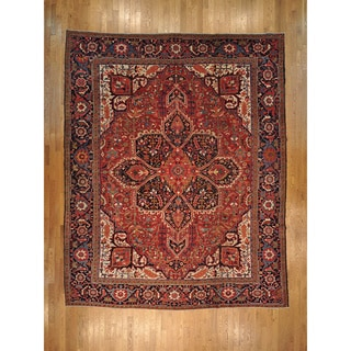 Hand-knotted Antique Persian Heriz Excellent Condition Rug (10'3 x 15'1)