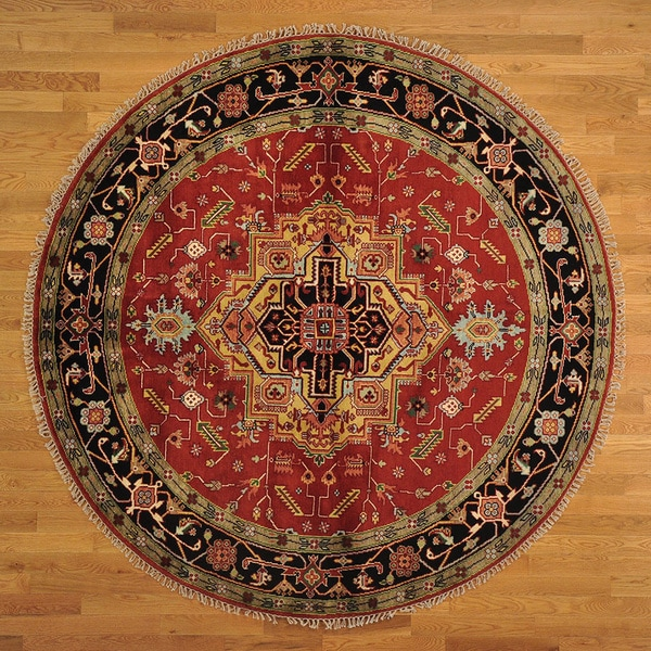 Serapi Heriz Tribal Design Hand-knotted Round Rug (8' x 8') 14231438