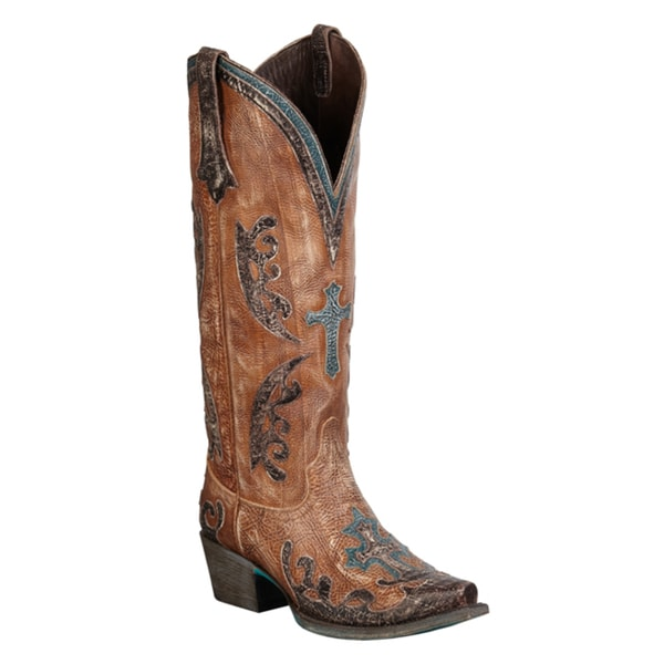 Lane Boots Women's 'Grace' Tan Leather Cowboy Boots