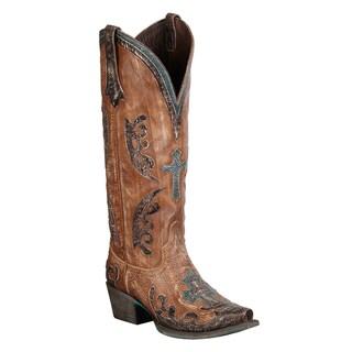 Lane Boots Women's 'Grace' Tan Leather Cowboy Boots