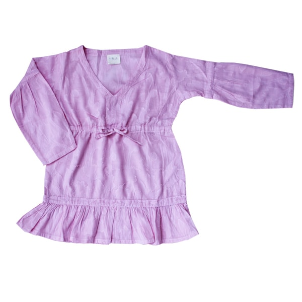 Azul Swimwear Girls 'Shanti' Pink Long Sleeve Tunic