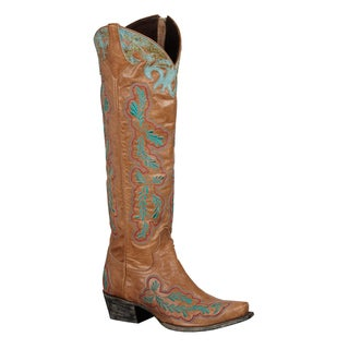 Lane Boots Women's 'Amber' Tan Leather Cowboy Boots
