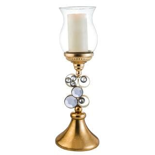 20.5-inch Gold Malha Candleholder