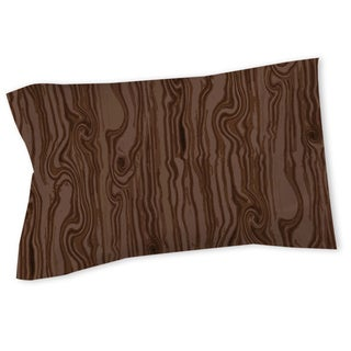 Thumbprintz Wood Grain Large Scale Brown Sham