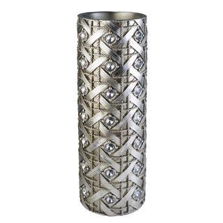 18.50-inch Silver Dazzle Decorative Vase