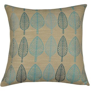 Falling Leaf Jacquard 18-inch Throw Pillows (Set of 2)
