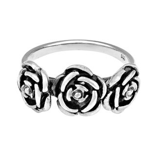 Three Roses of Love .925 Sterling Silver Ring (Thailand)
