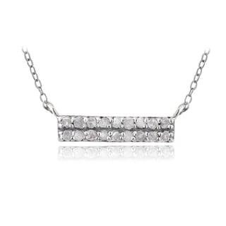 DB Designs Sterling Silver 1/5ct TDW Diamond Bar Necklace (I-J, I2-I3)