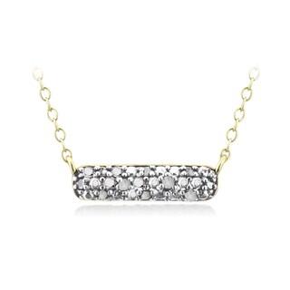 DB Designs Gold Over Silver 1/10ct TDW Diamond Bar Necklace (I-J, I2-I3)