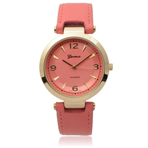 Geneva Platinum Goldtone SW-9858 Round Dial Japanese Quartz Watch