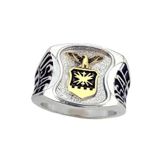 Official US Air Force Men's Rhodium-plated Eagle Ring