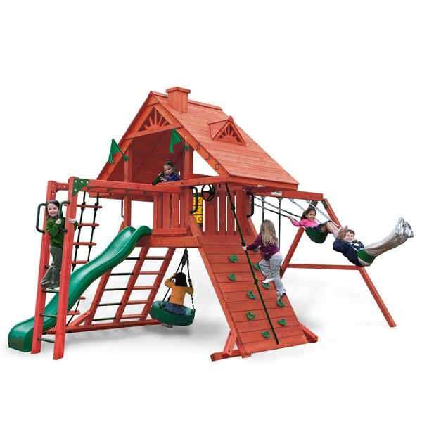 Gorilla Playsets Sun Palace II Backyard Swing Set 14232601
