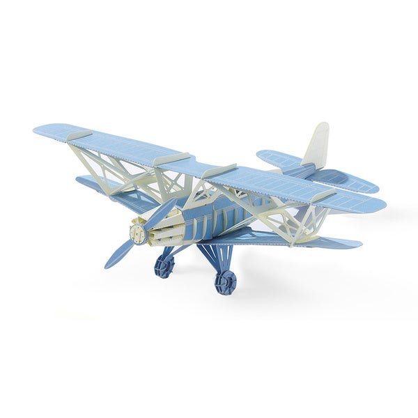 Papero Blue Bi-plane Assemblage Model Kit