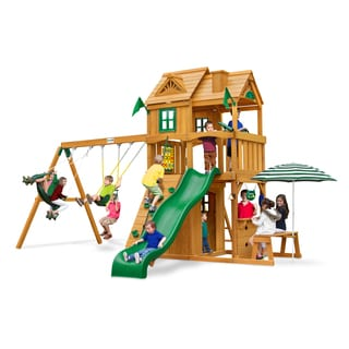 Gorilla Playsets Cafe Climber Swing Set