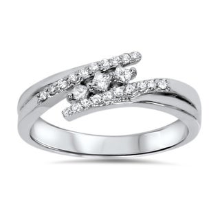 Bliss 10k White Gold 1/5ct TDW Diamond Promise Ring (H-I, I2-I3)