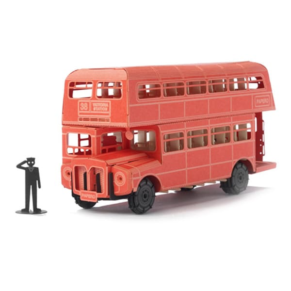 Papero Red London Double Decker Bus Assemblage Model Kit
